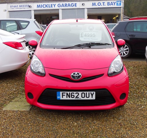 Toyota sold aygo vvt i plus mickley garage for Garage toyota le plus proche